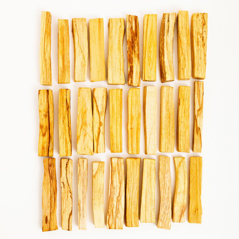 30 стандартных брусков дерева пало санто